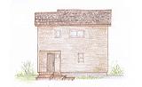 キッチンカウンターがある茶色のシックな家 O様邸
