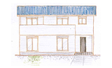 青いガルバリウム屋根の機能性にこだわった家 O様邸