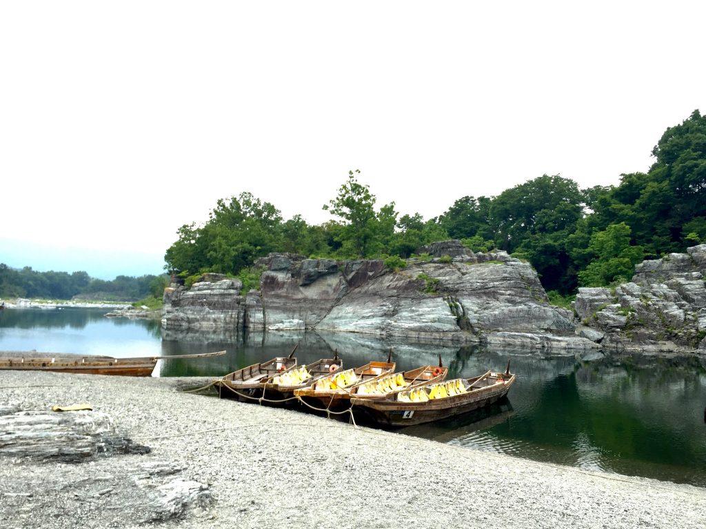 埼玉県秩父市・長瀞のライン下りボート